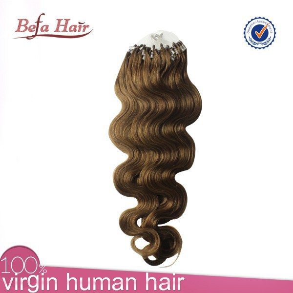 2015 Best Seller High Quality Body Wave Micro Thin Weft Hair Extension