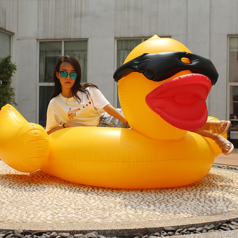 adult inflatable water toys giant swimming pool float inflatable duck boat