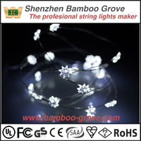 LED snow flake starry starry string lights