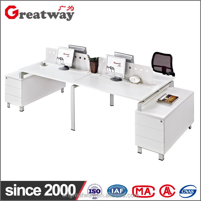 Wholesale guangzhou office computer desk with filing cabinet