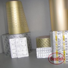 UV printing Alu blister foil sealing with cold forming foil