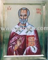 Handpainted religion icon of Saint Nickolas