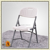 with metal tube white plastic folding garden chair BS-089