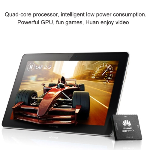 Huawei MediaPad 10 3G 10.1 inch IPS Screen Android 4.2 3G Tablet,Hisilicon Kirin 910 Quad Core 1.6GHz, RAM: 1GB ROM: 16GB, Suppo