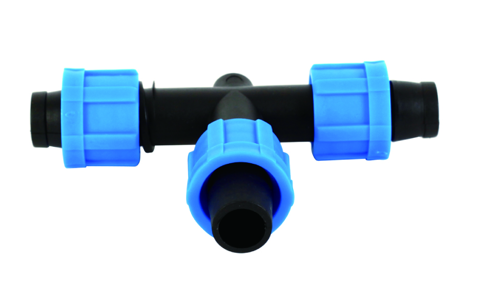 Drip Tape Fitting Lock Tee for Agriculture Irrigation