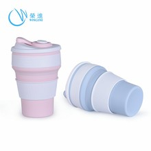 Hot Sell Custom Logo Flexible Silicone Water Bottle
