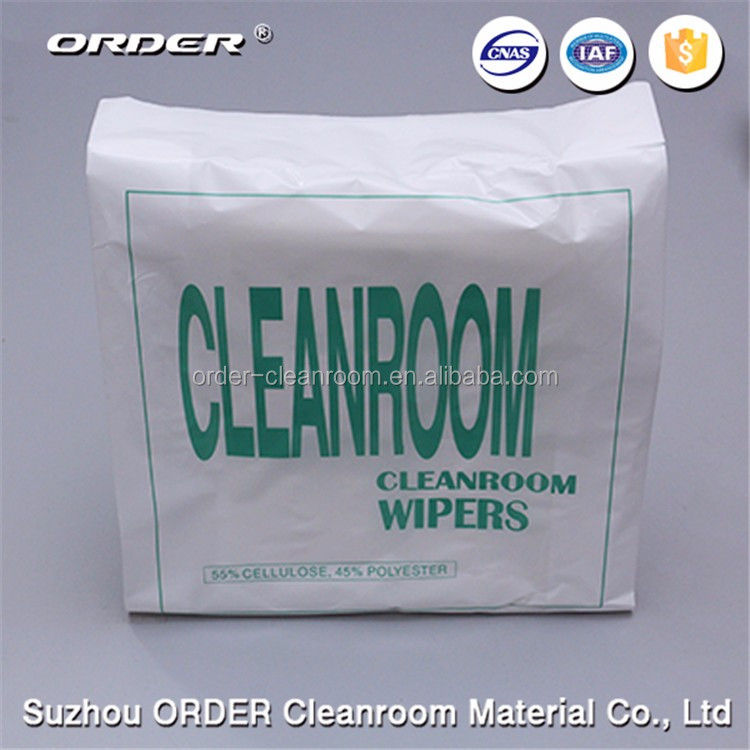 Woodpulp Polyester low lint cleanroom wiper