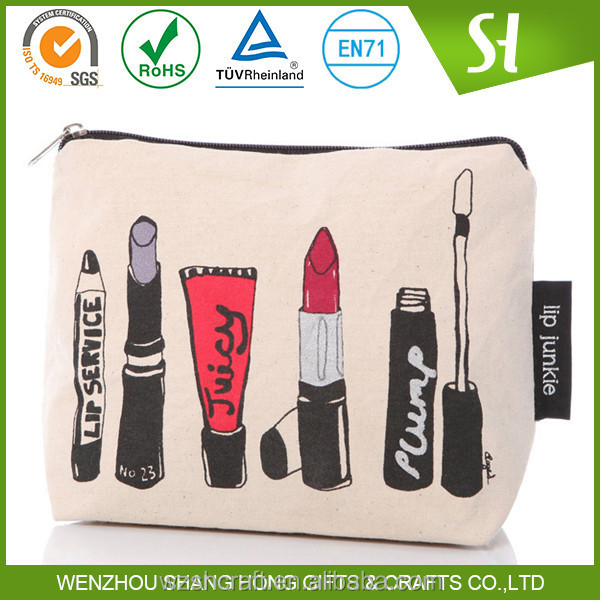 Factory Price custom reusable cotton recycle bag/organic cotton cosmetic bag