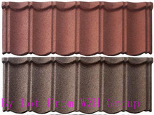 classical color sand coated soundproof metal roof tile