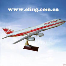 CUSTOMIZED LOGO RESIN MATERIAL passenger scale model airplane