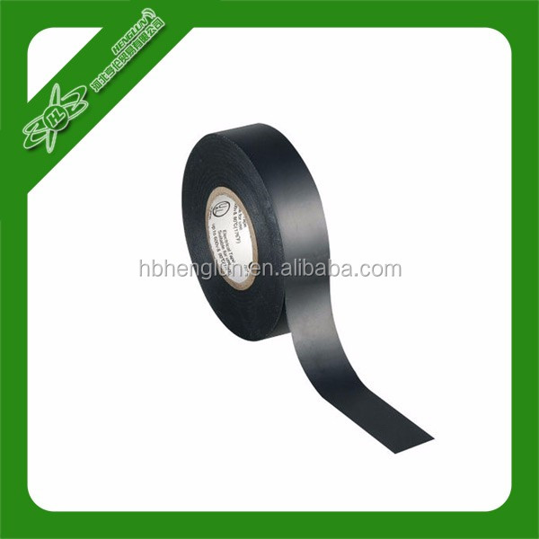 Shiny film black color Pvc insulation electrical tape