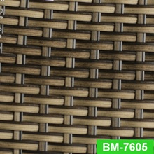 Mix color UV-resistant synthetic stripe PE rattan wicker material for outdoor furniture
