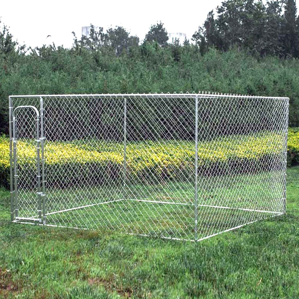 manufacturer wholesale outdoor durable steel frame chain link large steel dog cage