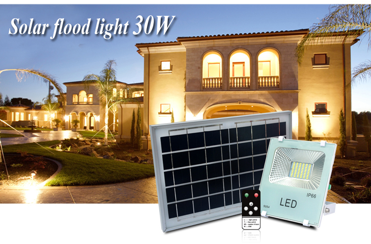 Solar Power Security Light automatic 100W Solar LED Flood Light With Remote Control
