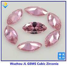 pink cubic zirconia marquise cut synthetic diamond