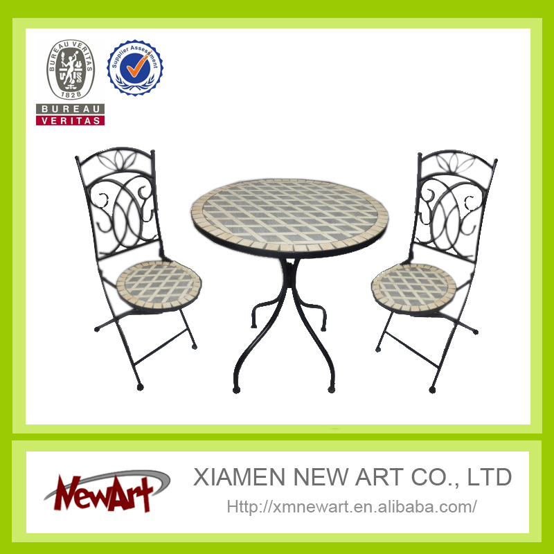 outdoor antique wrought iron garden table and chairs