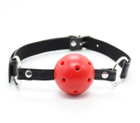 Leather Belt Bondage Plastic Ball Animals Open Mouth Gag Horse Sex Small Girl Hot for Men and Women