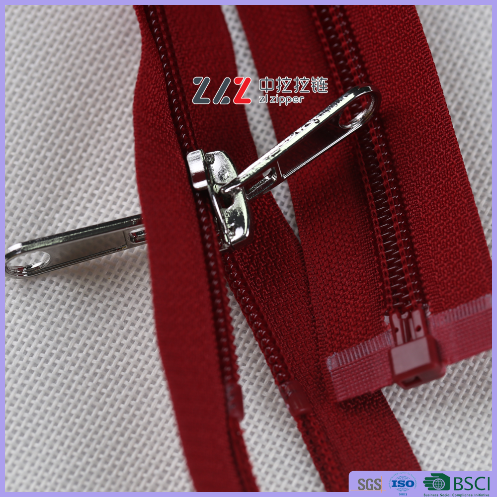 5# Plastic nylon zipper