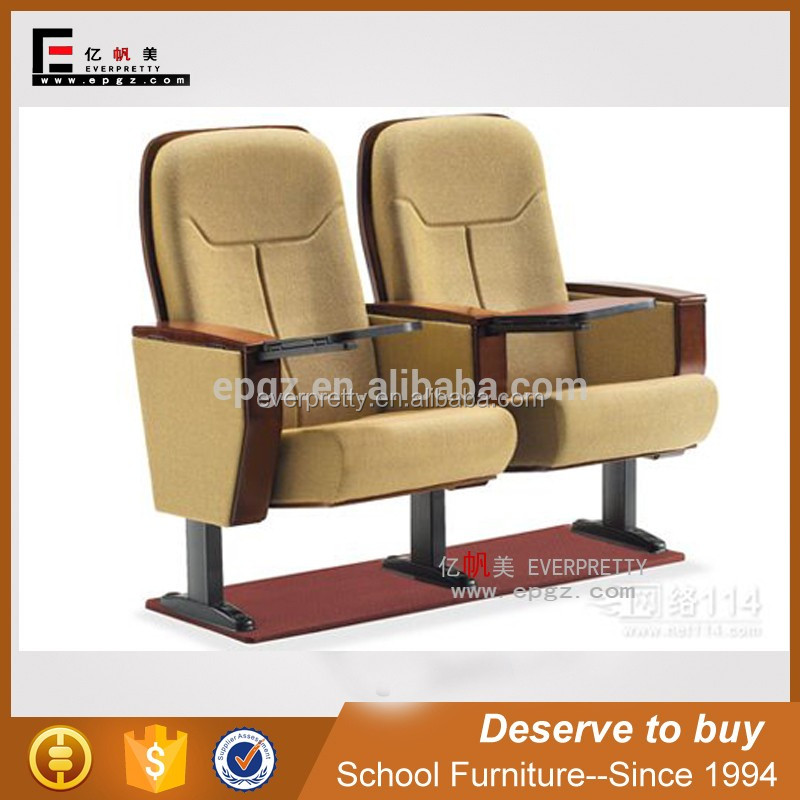 Theater seating in theater furniture, auditorium chair with fabric cover, foldable theater chairs