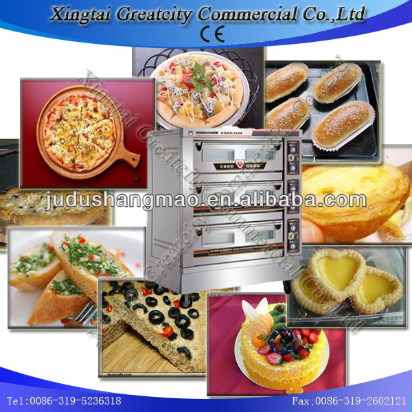 cheap Automatic bread making equipment and bakery oven with 3 layers