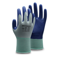 NE300 13G nylon liner with smooth Nitrile Coating Glove