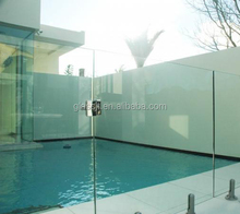 12mm tempered laminated glass pool fence