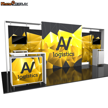 Special design aluminum trade show display indoor quick show aluminum extrusion trade show booth