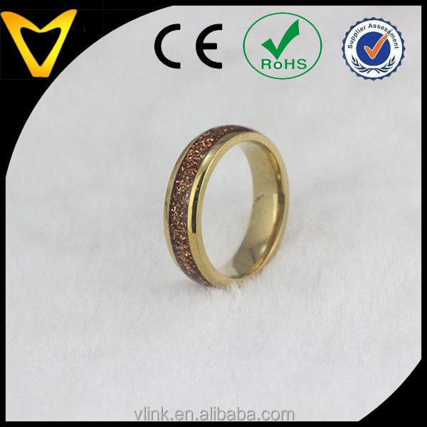 14K Gold Plate Tungsten Carbide Wedding Ring With Opal Inlaid, Quality 6MM Domed Tungsten Carbide Ring Mens Jewelry Wholesale