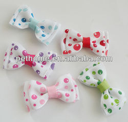 flower print dog bows yiwu product