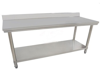 Restaurant Kitchen Heavy Duty 2 Layers stainless steel working table