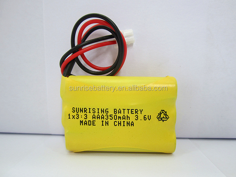 ni-cd AAA 350mah 3.6V rechargeable battery pack aaa 1.2V rechargeable battery