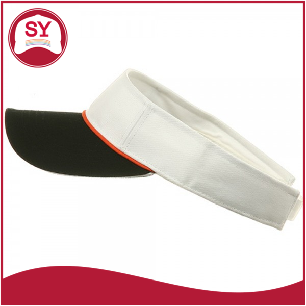 Sandwich Bill and Piping Decoration Two Tone Visors