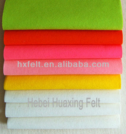 HOT! High qualiy 100% Wool Felt wholesale with many colors for Garment and Shoes(Manufacturer)