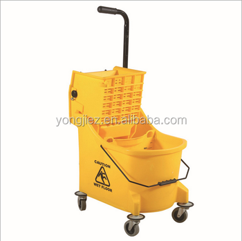 Floor cleaning mop bucket with wringer,plastic mop bucket with wheels