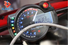 ZJMOTO LCD Motorcycle parts Universal Digital motorcycle speedometer electronic speedo meter best sell of China sale