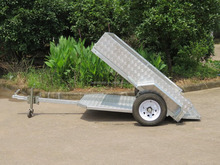 500kg light weight,easy towing small trailers,aluminum tilting box trailer