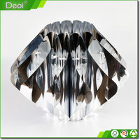 Custom made decorative silver paper art lamp shade wholesale round plastic lamp shade