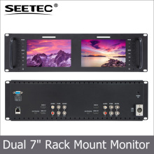 "7"" rack mount display 3G-SDI HDMI AV input and output IPS resolution 1280x800 on camera field lcd monitor for broadcasting"