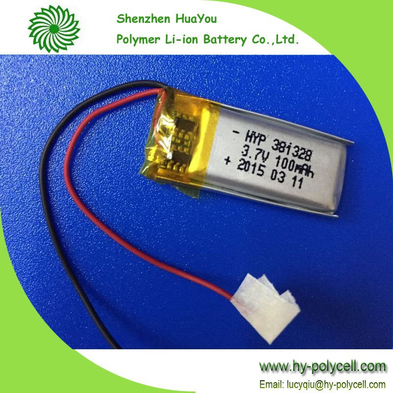 381328 100mah 3.7v external li ion battery pack