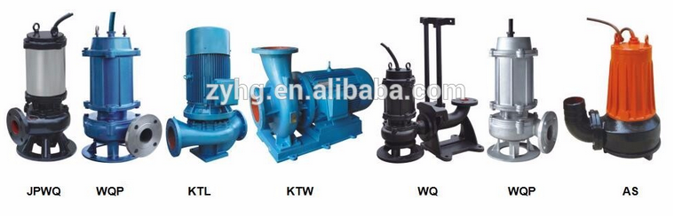 WQ Series Low Pressure Submersible Sewage Centrifugal Dirty Water Pump