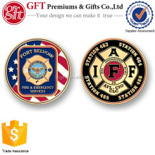 Free proof design custom enamel firefighter challenge coins