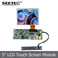 Industrial panels resistive touch screen 5 inch reflective lcd for digital signage