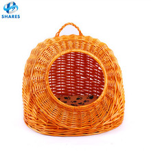 2017 hot pet product elevated luxury cat house wicker cat bed felt cat bed from Top china factory