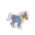 2018 creative 5mm fuse beads pegboard horse shape