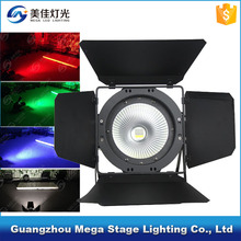 led par 64 dmx stage lighting 200w barn door rgbw 4 in 1 cob led par
