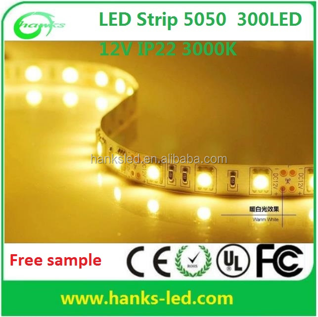 Free sample for new products GS/CE, ROHS, ERP approved Non-waterproof IP22 <strong>RGB</strong> 12V 5050 LED Strip
