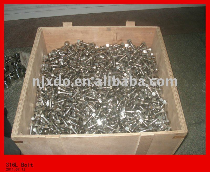 AISI316L /UNS31603/317L stainless steel bolts&nuts,316 screw