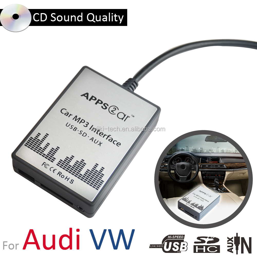 Car Audio USB/SD MP3 Interface AUX Adapter For 2003-2011 VW Audi Skoda Seat