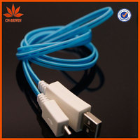 "Tommy Li New!Fashion design ""LED"" lighting usb data cable For Samsung/Htc wholesale usd cable"