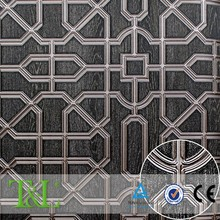 Vinyl embossed bamboo lattice wallpaper